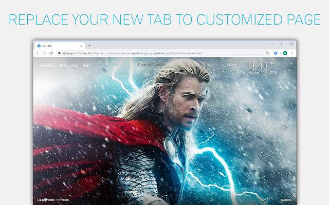 Thor Wallpaper Marvel New Tab - freeaddon.com