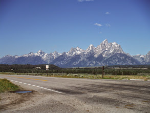 Photo: Day 18 Jackson Hole to Dubois WY 88 miles 4450' climbing: Tetons Fading in the backgound