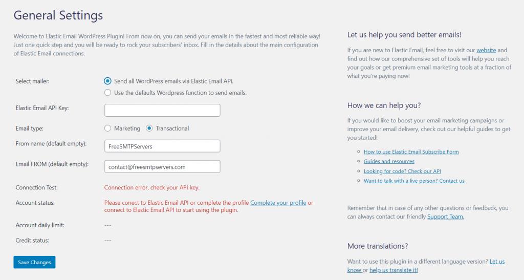 ảnh chụp màn hình plugin người gửi email đàn hồi