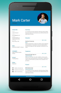 App CV Maker Resume Builder PDF Template Format Editor APK for Windows Phone