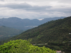 Photo: Tomorrow we hike almost to Cortes, the white village in the distance.