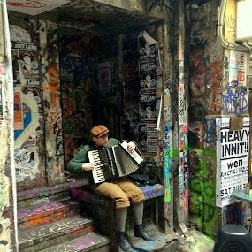 Music man of dustpan alley by Greg Harrington - Instagram & Mobile iPhone