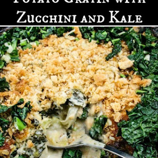 Potato, Kale, Sweet Onion & Zucchini Gratin