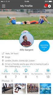 Sportsfixer - The Sports Social Network App- screenshot thumbnail