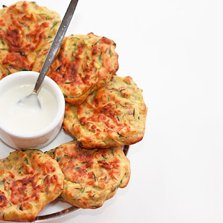 Baked Zucchini Fritters.