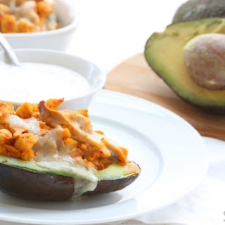 Buffalo Chicken-stuffed Avocados