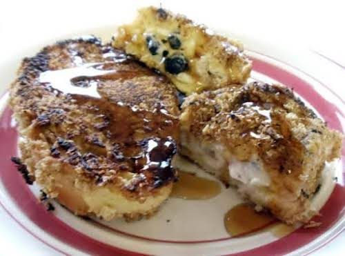 """Honey Blueberry Stuffed French Toast""""I created this recipe using the flavors of..."""