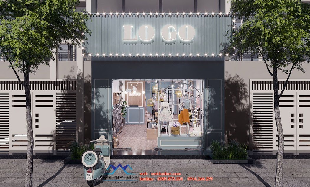 thiết kế shop thời trang nữ dova