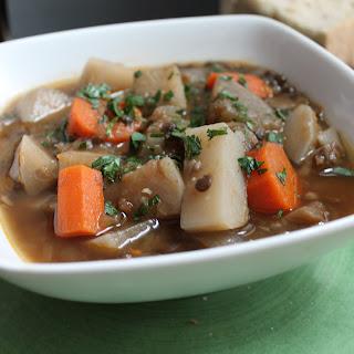 Irish Lentil Guinness Stew.