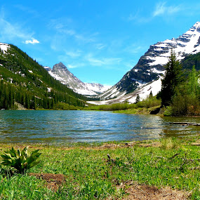 Heaven on Earth by David Hughes - Landscapes Mountains & Hills ( mountains, peaceful places, lakes, colorado, alpine )