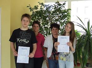 Fotó: Simonyi Zsigmond helyesírási verseny kerületi forduló: 1. hely Veszely Gábor 8.b, 3. hely Gellér Dóra 6. b