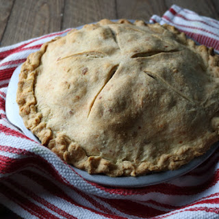 Bourbon-Vanilla Apple Pie with Cheddar Cheese Crust