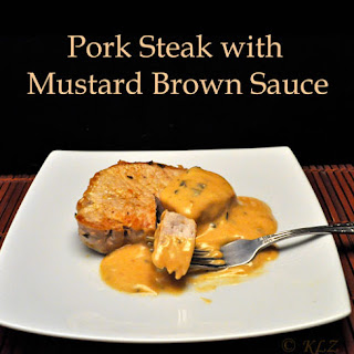 Pork Steak with Mustard Brown Sauce