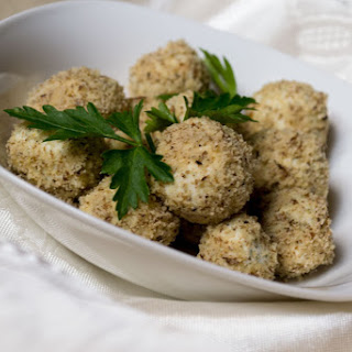 Sheep-Cheese Balls with Walnuts.
