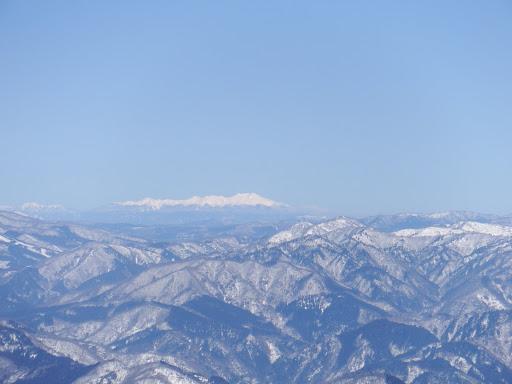 乗鞍岳(左に霞沢岳)