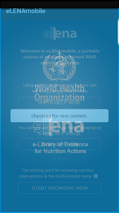 WHO eLENAmobile nutrition app- screenshot thumbnail