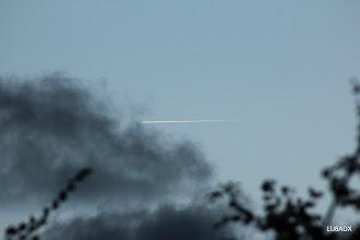 Photo: Un avion que pasa (al menos creo que era  un avion)