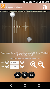 Ringtone Maker and MP3 Cutter and Audio Trimmer - náhled