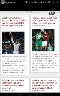 Novinky ze sportu - náhled