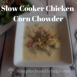 Slow Cooker Chicken Corn Chowder.