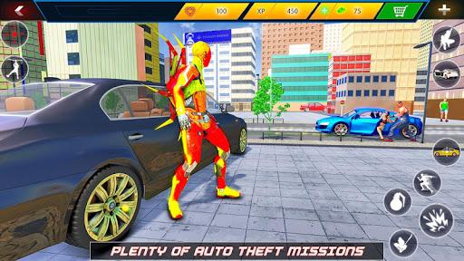 Flying Robot Rope Hero - Vegas Crime City Gangster screenshots 7