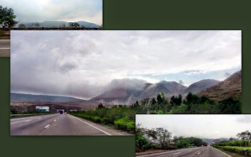 Photo: My husband shared me these pictures of pleasantly appearing pre-monsoon clouds on the express highway between Pune and Mumbai. Soon, they will pour over the sizzling ground to instantly cool it down. I love this greenery season the most, like everyone else in this part of India! 6th June updated (日本語はこちら) -http://jp.asksiddhi.in/daily_detail.php?id=565
