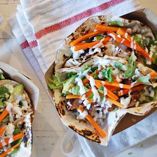 Crispy Pork Belly Tacos.