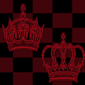 Red Chess Crown GO SMS Theme
