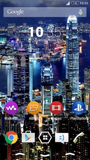 For Xperia Theme Night City