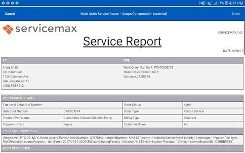 field service report
