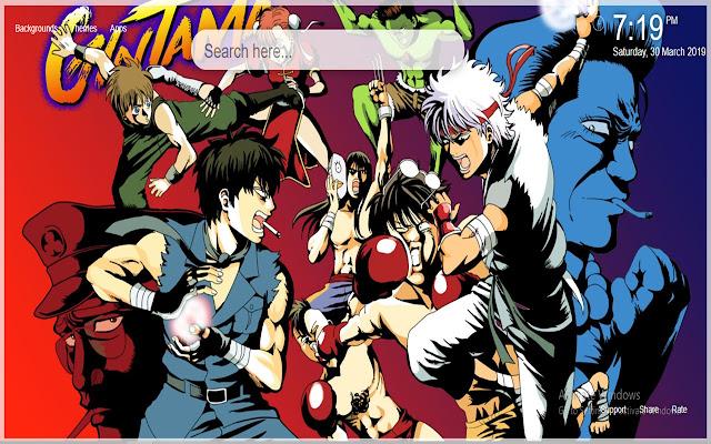 Gintama Anime HD Wallpaper New Tab