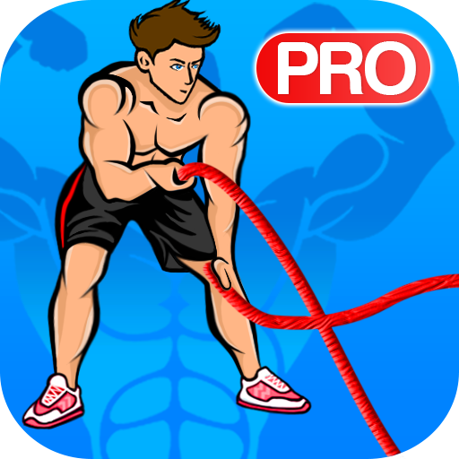 Battle ropes workout icon