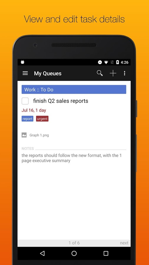 GQueues | Tasks & To-Do Lists- screenshot
