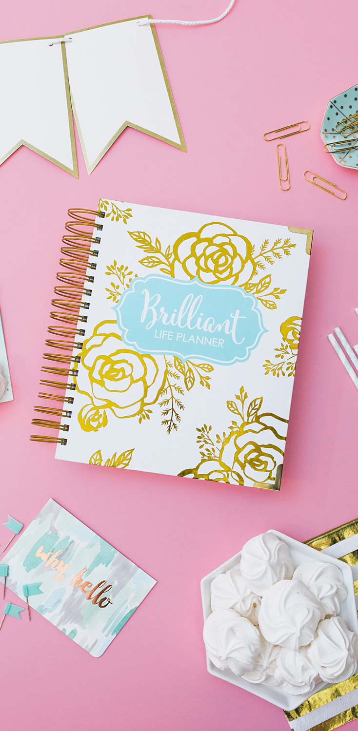 Brilliant Life Planner - White and Gold Floral