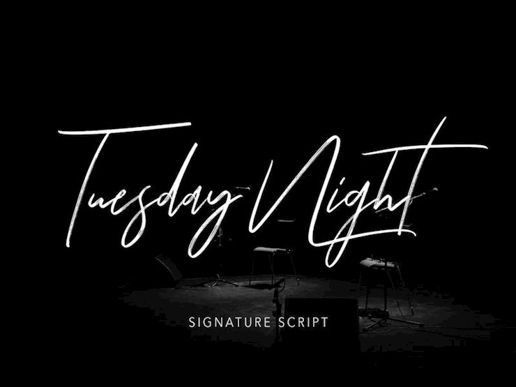 tuesday_night_free_font
