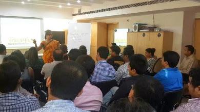 Photo: Ritika conducting a workshop in L'Oreal, Kolkata