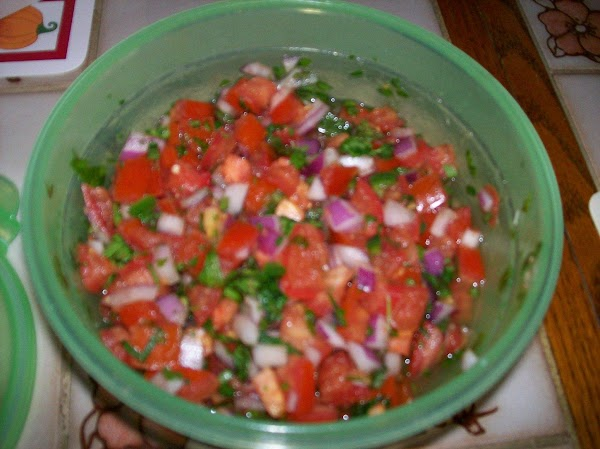 Pico de Gallo 3 Roma tomatoes 1/2 medium red onion, chopped 1 jalapeno pepper, chopped 1 habanero pepper,...