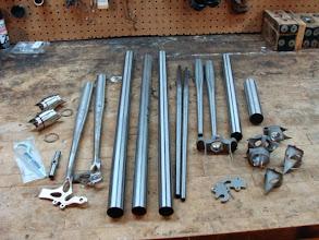 Photo: Tubing, lugs, and couplers!
