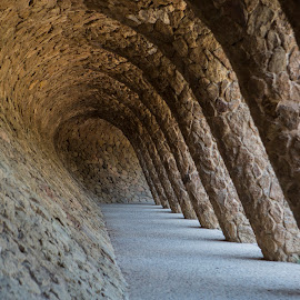 Park Guell Barcelona by Chris Seaton - Buildings & Architecture Public & Historical ( outdoors, barcelona, gaudi, park, architecture,  )