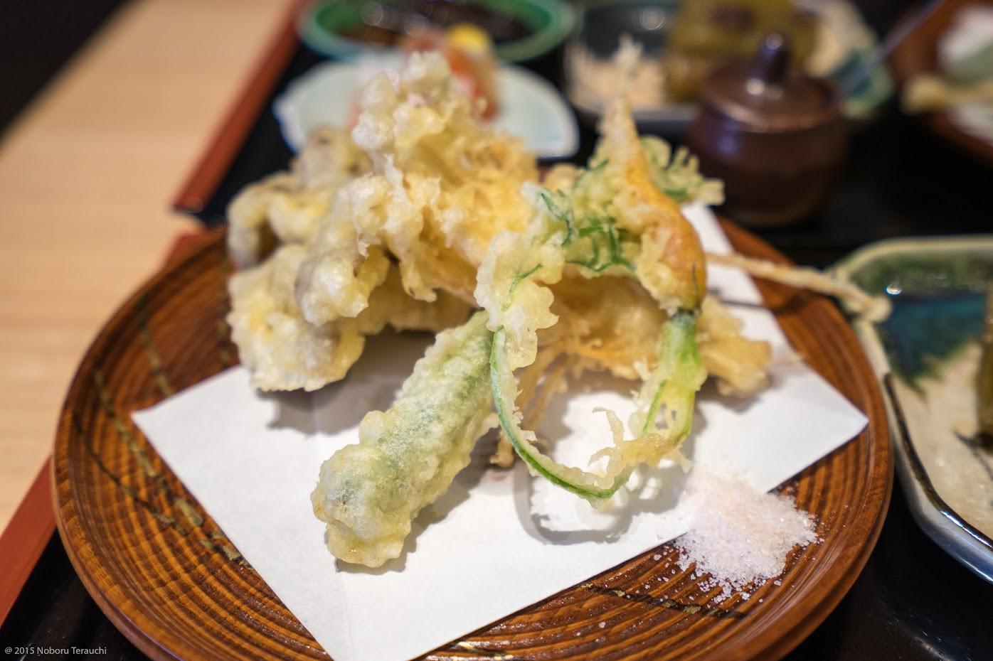 茸と旬菜の天ぷら盛り合わせ