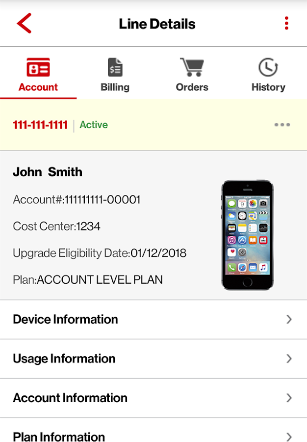 The Verizon application that submitted the order? orderNum: number: ACE Order Number: orderType {empty string, } regionId {MW, } Your geographic region? MW: Midwest? saleType {empty string, } agentData {null, } Information on the Verizon agent that submitted the order? itemDetailsList: list[] This nested list contains shipping data and other information.