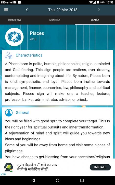 Pisces Horoscope – (Android Alkalmazások) — AppAgg