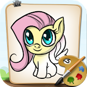 Coloring Little Pony Town
