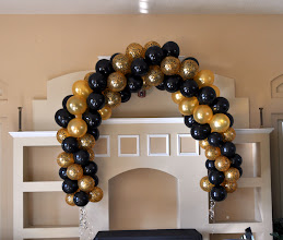 Photo: Sweet Sixteen Balloon Arch created by Paola of http://www.BestPartyPlanner.net location Pemboke Pines, FL