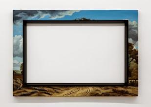 Photo: Invasiones mutuas II. 2014 Óleo sobre tela y molduras 90 x 130 cm