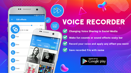 Voice Changer, Sound Recorder and Player 1