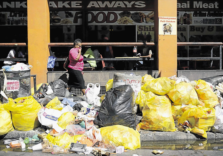 Pikitup says it is unable to fulfil its waste collection responsibilities due to continued intimidation' protest action and acts of violence against its employees by former Jozi@Work employees.
