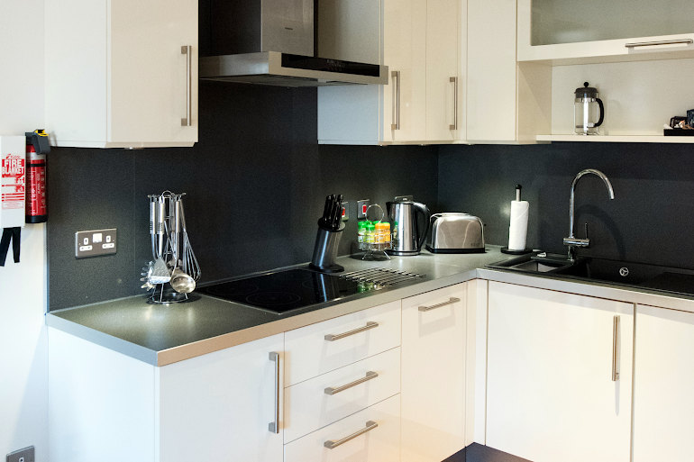 Fully equipped kitchen at Hamiltons Apartments
