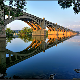 Susquehanna Rive Pa . by Will Zook - Buildings & Architecture Bridges & Suspended Structures