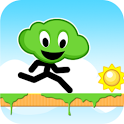 Green Cloud Runner - Free icon